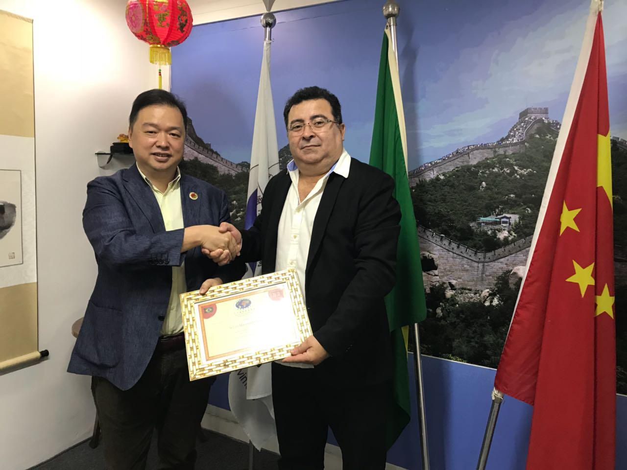 Empresário Levi Martins é nomeado vice-presidente da Câmara de comércio de desenvolvimento Internacional Brasil-China